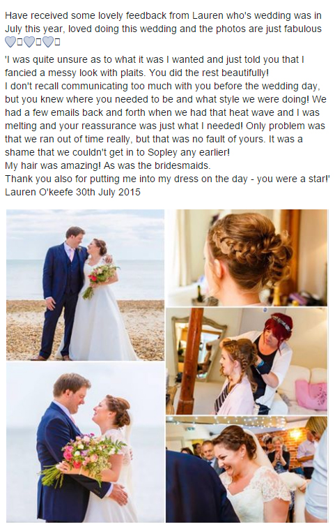 Happy Brides Pinned to Perfection Wedding Hairdressing Bridal Hair Ilfracombe North Devon