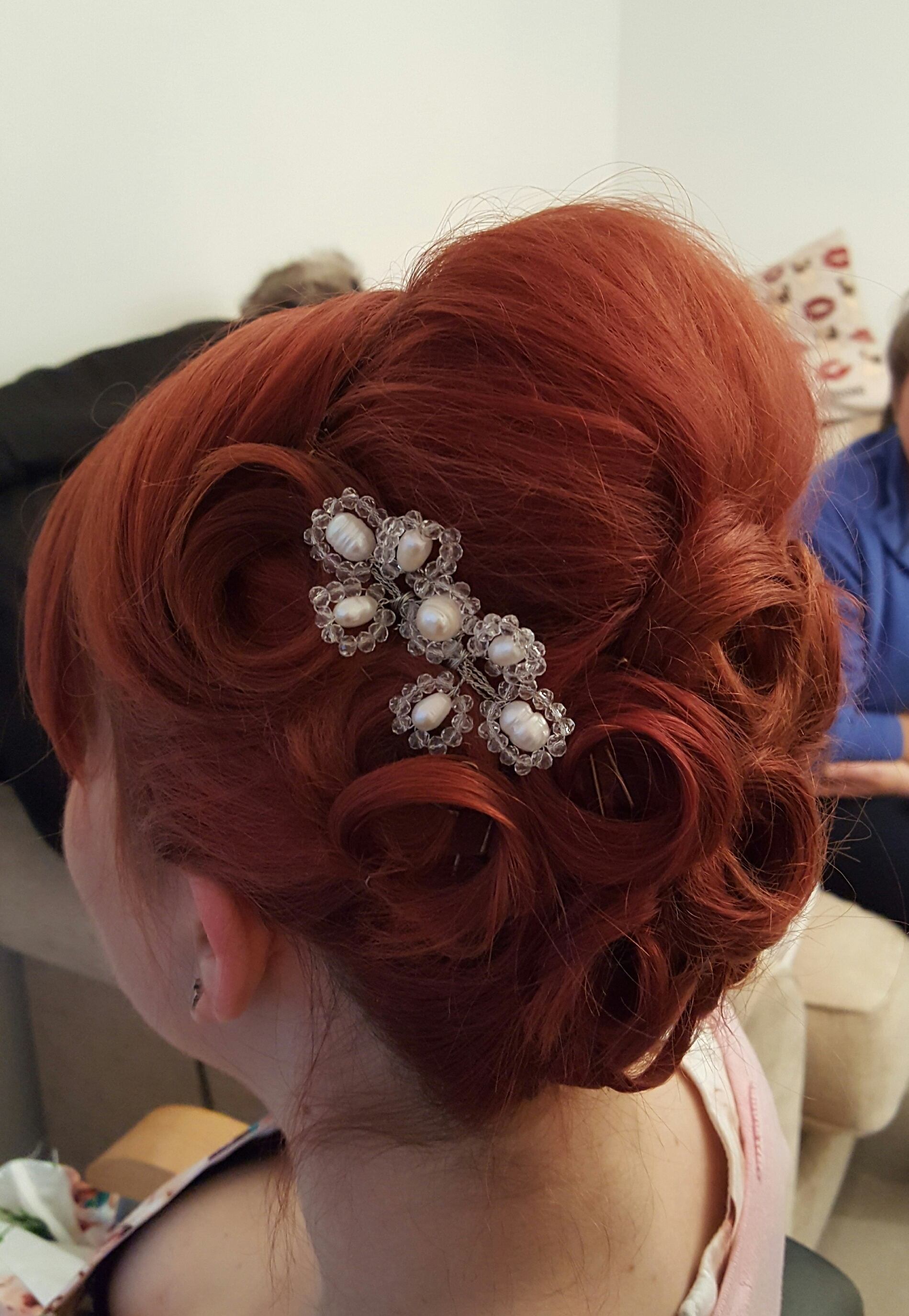 Wedding Hair Terri Pinned to Perfection Wedding Hairdressing Bridal Hair Ilfracombe North Devon Tunnels Beaches Watersmeet Hotel Sandy Cove Ash Burton Saunton Sands Ocean Kave Woolacombe Bay Westcott Barton Barnstaple Hotel