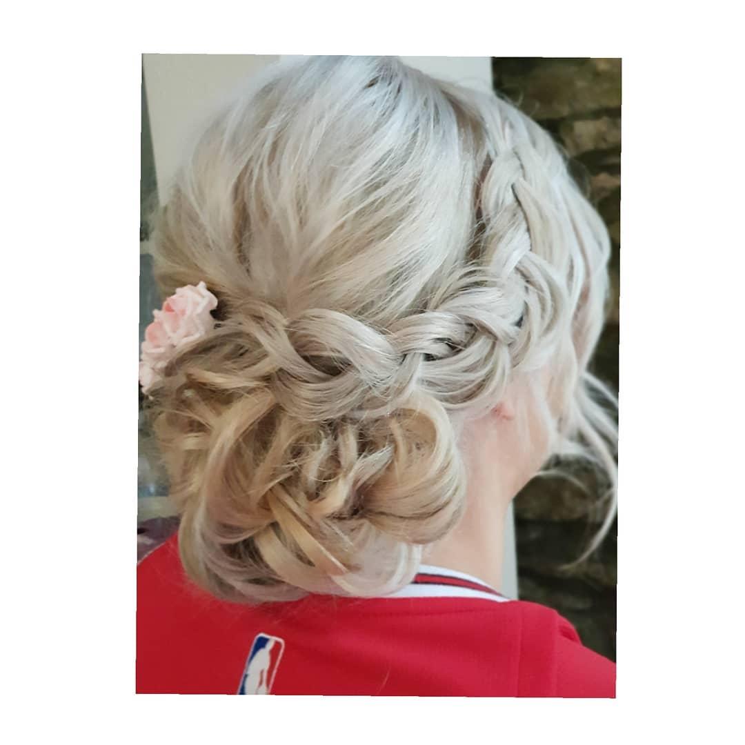 Wedding Hair Terri Pinned to Perfection Wedding Hairdressing Bridal Hair Ilfracombe North Devon Tunnels Beaches Watersmeet Hotel Sandy Cove Ash Burton Saunton Sands Ocean Kave Woolacombe Bay Westcott Barton Barnstaple Hotel